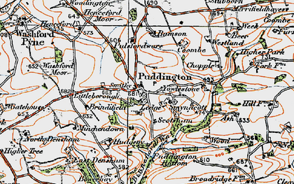 Old map of Yowlestone Ho in 1919