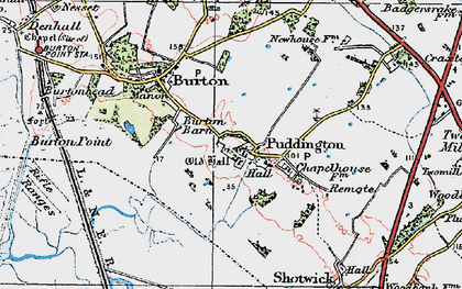 Old map of Puddington in 1924