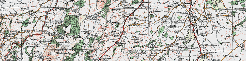 Old map of Lawn Hill in 1921