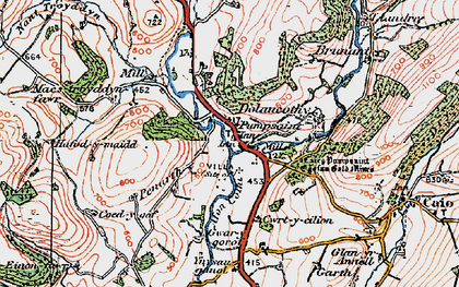 Old map of Ynysau in 1923