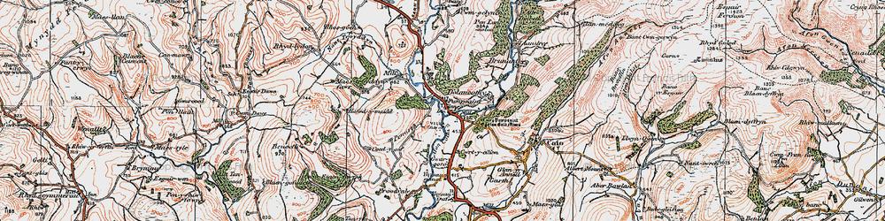 Old map of Ynysau in 1923