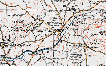 Old map of Puncheston in 1922