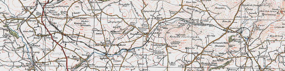 Old map of Windy Hill in 1922