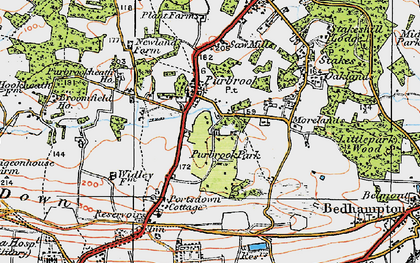 Old map of Purbrook in 1919