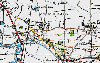 Old map of Puriton in 1919