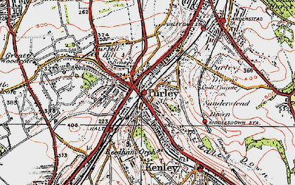 Old map of Purley in 1920