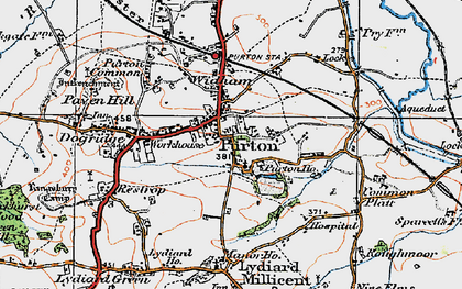 Old map of Purton in 1919