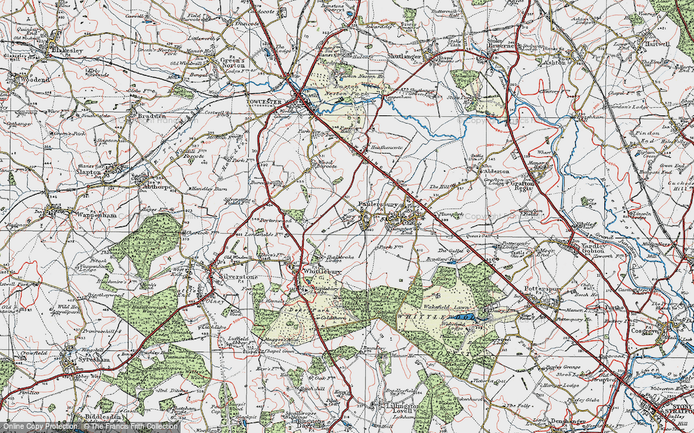 Old Map of Pury End, 1919 in 1919