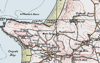 Old map of Putsborough in 1919