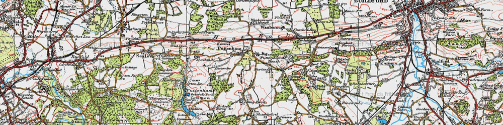 Old map of Lascombe in 1920