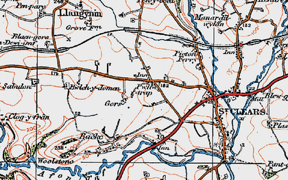 Old map of Zabulon in 1922