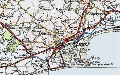 Old map of Allt Fawr in 1922