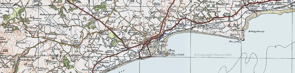 Old map of Allt Fawr in 1922