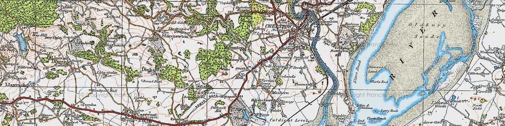 Old map of Willis Hill in 1919