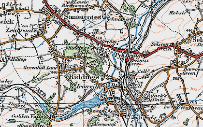 Old map of Pye Bridge in 1921