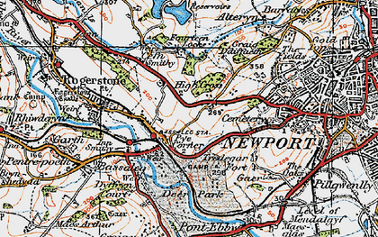 Old map of Pye Corner in 1919