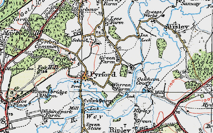 Old map of Newark Priory in 1920