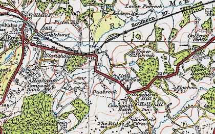 Old map of Ashdown Ho (Sch) in 1920