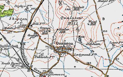 Old map of Quainton in 1919