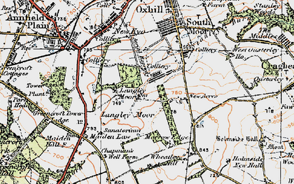 Old map of Wheatley Hill in 1925