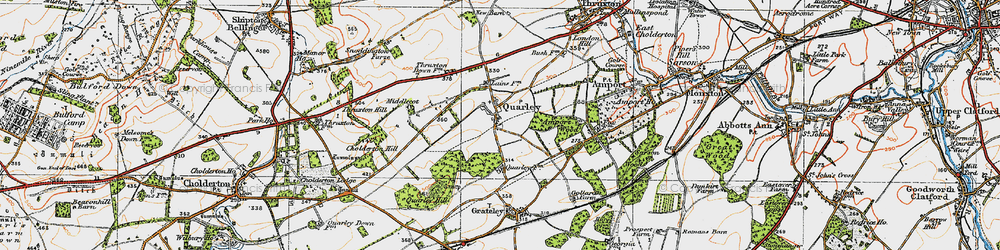 Old map of Amport Wood in 1919