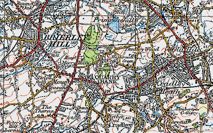 Old map of Quarry Bank in 1921