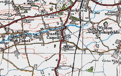 Old map of Queen Camel in 1919