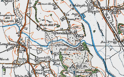 Old map of Queenhill in 1920