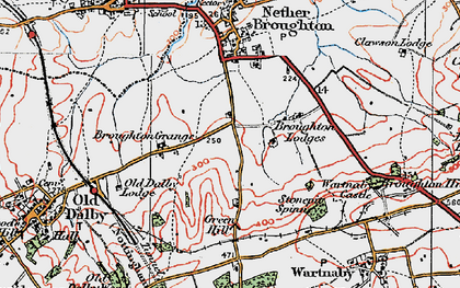 Old map of Queensway Old Dalby in 1921