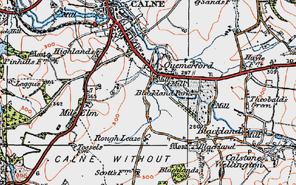 Old map of Quemerford in 1919