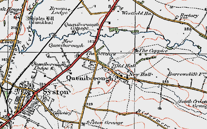 Old map of Queniborough in 1921