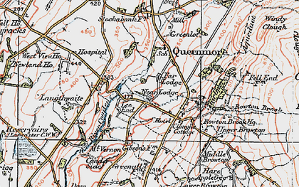 Old map of Lee End in 1924