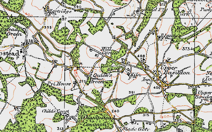 Old map of Ashampstead Common in 1919