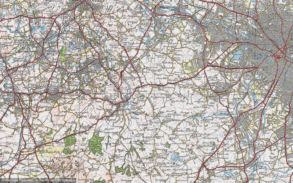 Old Map of Quinton, 1921 in 1921