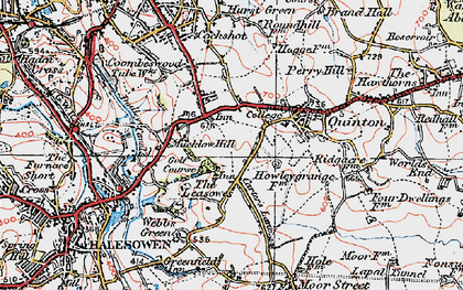 Old map of Quinton in 1921