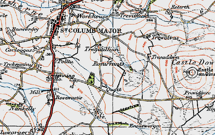 Old map of Quoit in 1919