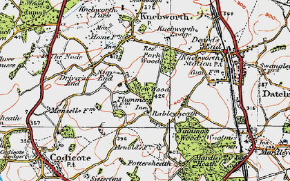 Old map of Rableyheath in 1920