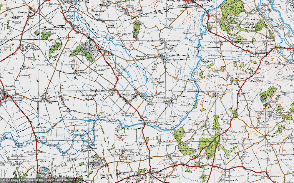 Old Map of Historic Map covering Linch Hill in 1919