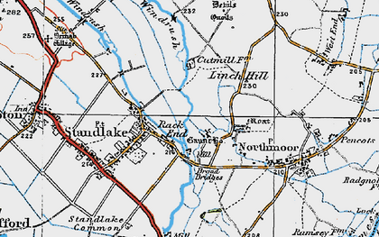Old map of Linch Hill in 1919