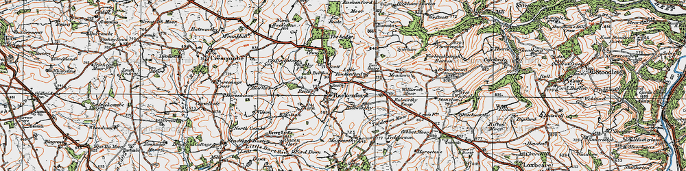 Old map of West Whitnole in 1919