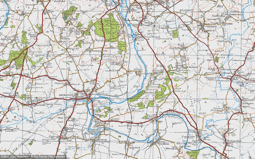 Old Map of Radley, 1919 in 1919