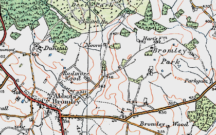 Old map of Bagot's Park in 1921