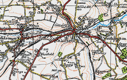 Old map of Radstock in 1919