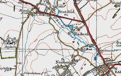 Old map of Radwell in 1919