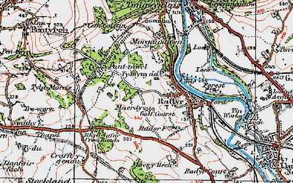 Old map of Radyr in 1919