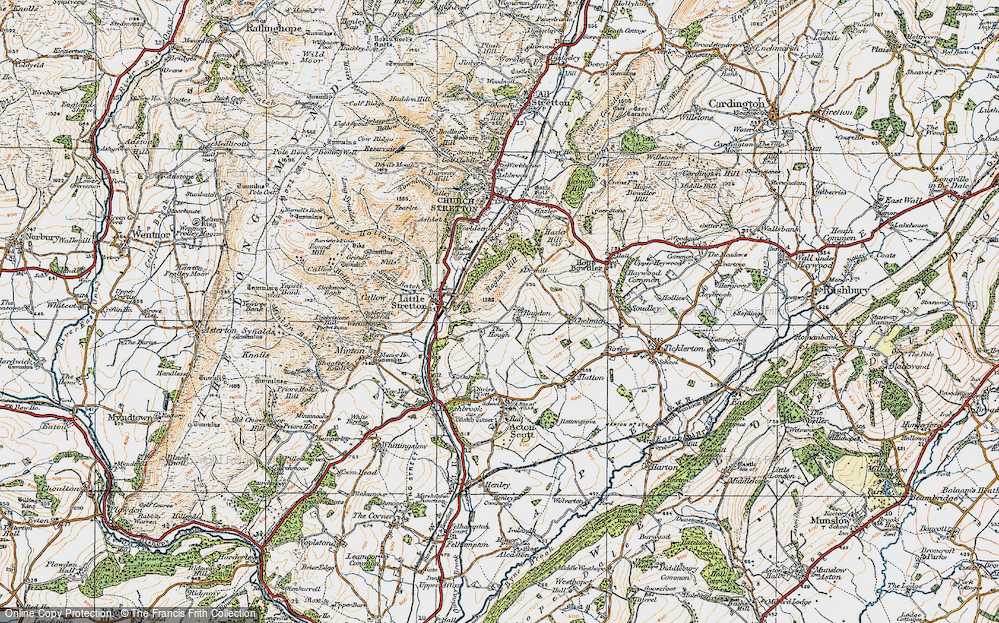 Old Map of Ragdon, 1920 in 1920