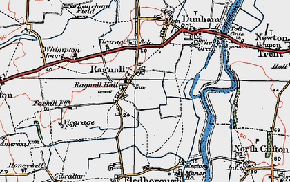 Old map of Whimpton Village in 1923