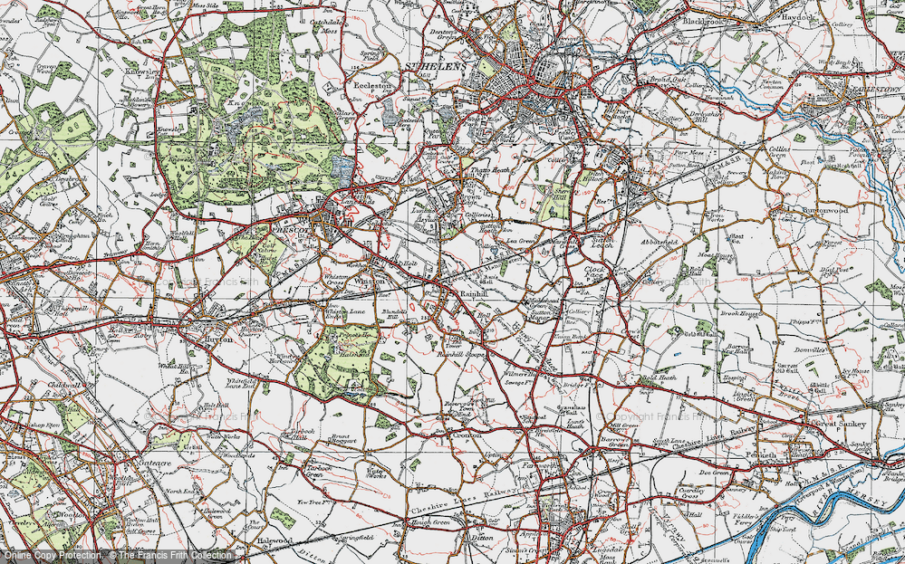 Old Map of Rainhill, 1923 in 1923