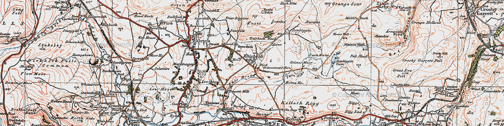 Old map of Acres in 1925