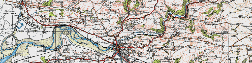 Old map of Westaway in 1919